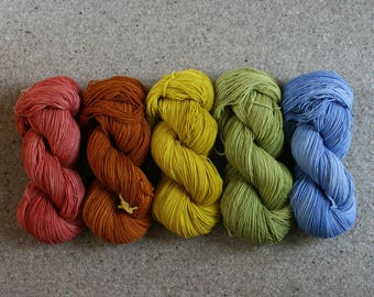 Solstice of 5 skeins fingering weight wool total 2500yds 2286m