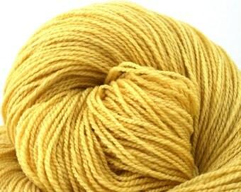 Mohonk Light Hand Dyed fingering weight NYS Wool 550yds 4oz Lemondrop