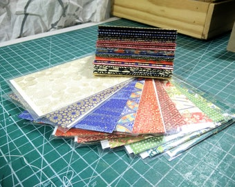 Choose any 2 for 15 - Handsewn Blank Card | Note card | Booklet with Inner Deckled Edge & Envelope | Washi Paper and Cotton Rag