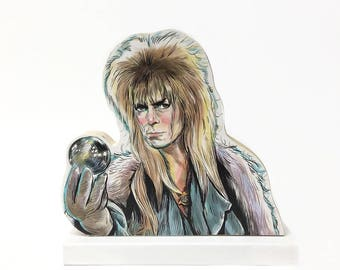 Labyrinth Goblin King Wooden Standee