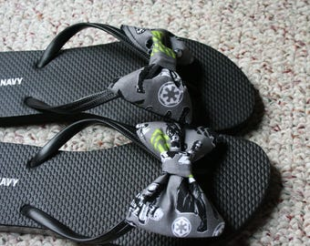 Star Wars Rouge one Flip Flop Sandals fabric handmade to your shoe size
