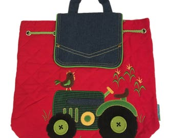 Personalized Tractor Toddler Backpack