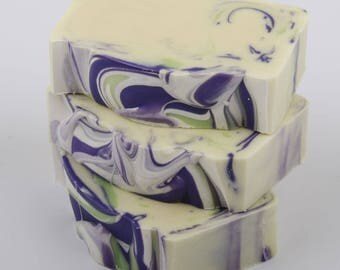 Lilacs In Bloom Soap  - Handmade Soap - Cold Process Soap - Shea Butter Soap - Vegan Soap