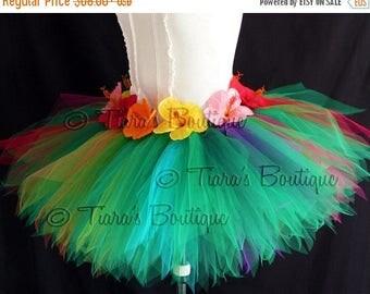 SUMMER SALE 20% OFF Hula Tutu - Leilani - Tutu For Teens Pre-teens Adults - Grass Hula Skirt Inspired Custom Sewn Pixie Tutu - up to 15''
