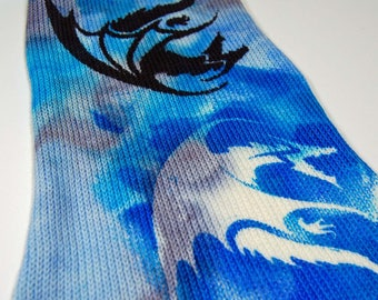 """Game of Thrones Inspired Sock Blank """"A Dragon is not a Slave"""" **Single Sock blank**"""
