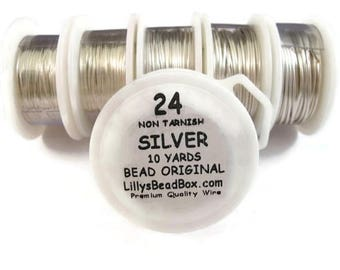 Summer SALEabration - Silver Plated Wire - 24 Gauge Wire for Making Jewlery, Non Tarnish Wire, Wire Wrapping Supplies
