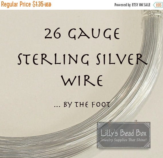 Summer SALEabration - 26 Gauge Sterling Silver Wire, .925 Wire By The Foot, Round, Half Hard Wire for Wire Wrapping