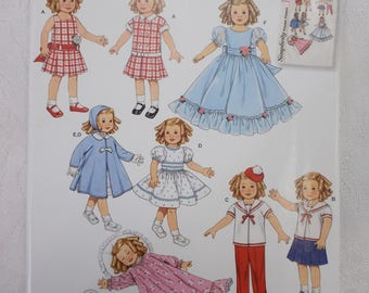 Simplicity 0636 2770, 19 Inch Doll Clothes Pattern, Shirley Temple Doll Clothes Pattern, 30s 40s Doll Clothes Pattern, Doll Sailor Outfit