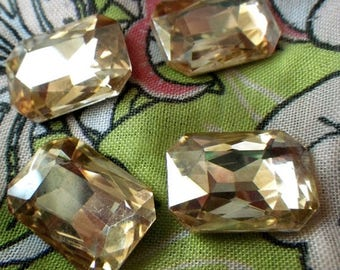 SALE 20% Off Light Colorado Topaz 18x13mm Octagon Glass Gems 6 Pcs
