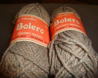 Mary Maxim Bolero Yarn/Beige/Stash Busting