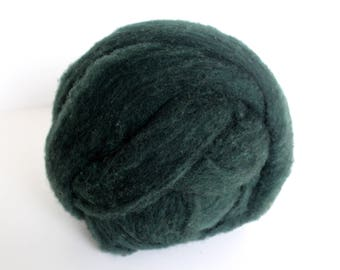 Polypay Wool Roving for Spinning -- Army Green