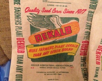 Vintage Dekalb Cotton Seed Sack 1960 New Old Stock