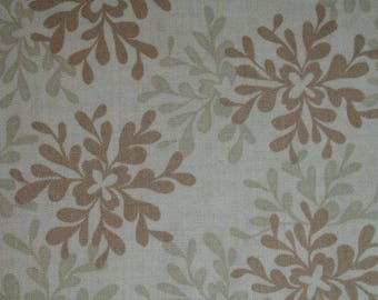 Twig Tan Leaves ~ NEST collection by Valori Wells for Free Spirit Brown Tan Floral Leaves vw25-twig ~ by the fat quarter or half yard