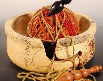 Spalted Tamarind Wooden Yarn Bowl Turned Wood Bowl Art  Number 6699 by Bryan Nelson Texas Wood Artist