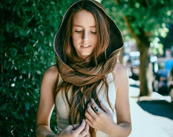 Scarf For Women, Scarves For Her, Infinity Scarfs, Brown and Mustards Cotton Scarf, Gift For Her