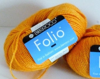 ON SALE Berroco Folio Golden Mustard Alpaca/Rayon Blend Yarn 2 Balls 4542