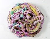 sugar rush      .. hand spun yarn, art yarn, handspun art yarn, wool yarn, boucle yarn, bulky yarn, handspun wool yarn