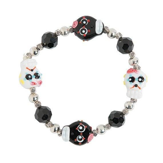 Day of the Dead/Dia de los Muertos Sugar Skulls Bracelet