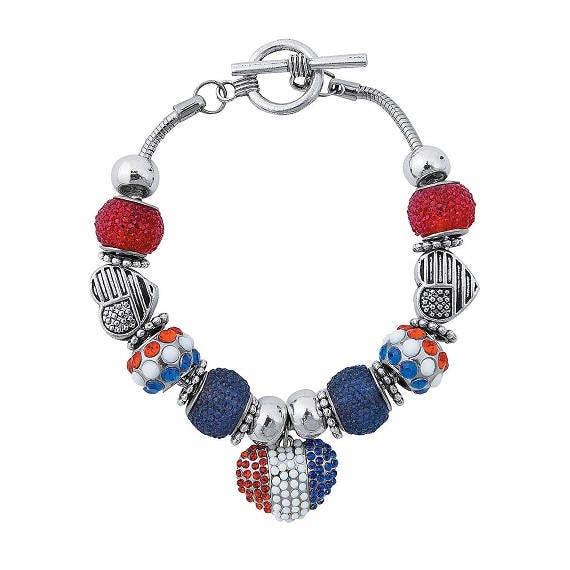 Patriotic Sugar Bead Bracelet