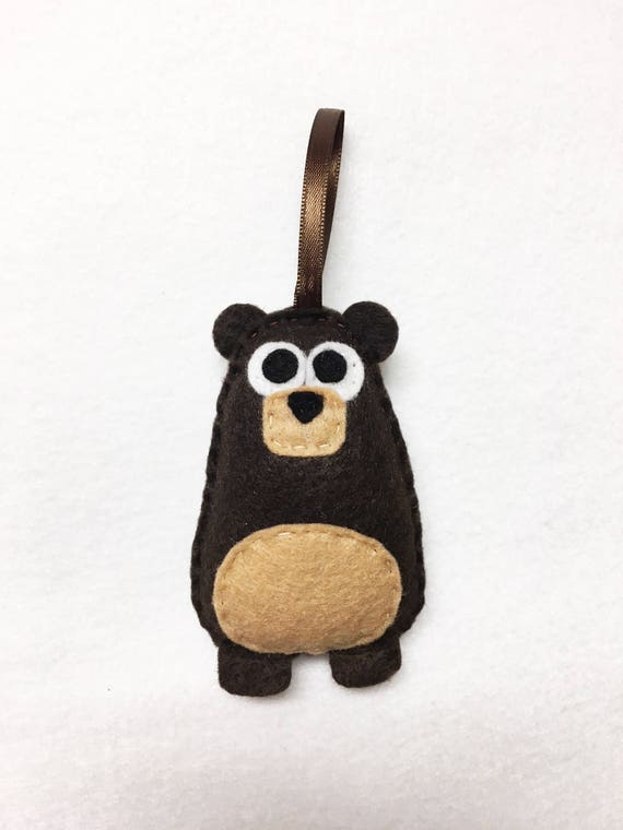 Bear Ornament, Christmas Ornament, Benny the Bear, Felt Ornament, Forest Animal, Woodland Decoration