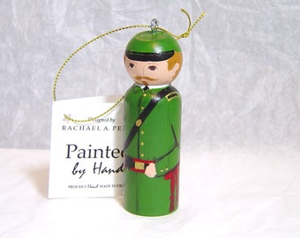 Ornament Union Sharpshooter Civil War soldier hand painted in USA