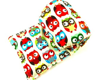 Owl Lovers Gift:  Therapy Pack Seamless Buckwheat Microwave Heat Pack Heating Pad Hot Cold Pack Unique Gift Idea