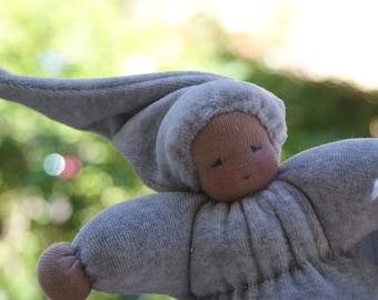 Willow Catkin Doll - Pussy Willow Doll - Waldorfdoll - Waldorf Doll - Cuddle Doll according to waldorf pedagogy - Waldorfdoll - Dark  Skin