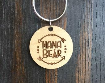 Mama Bear pendant keychain