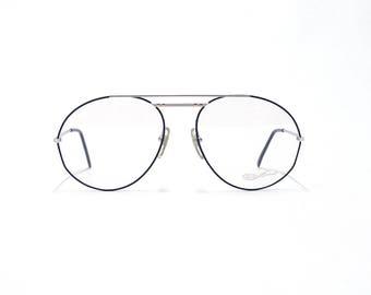 Vintage Oversized Aviator - Mens Eyeglasses Frame - YABI SPIRIT - German Eyeglasses - Deadstock eyeglasses -