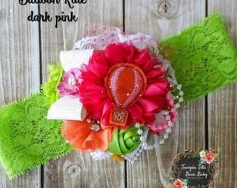 RTS Hot Air Balloon Ride Glamour Bloom Hair Flower clip headband m2m blumoondesign