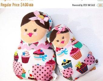 SALE Doll Pattern - Matroyshka Baby Doll Plushie - Baby and Mama