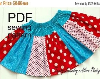 SALE Skirt Pattern for girls Scrappy Twirl -- NB -12 girls PDF Instant