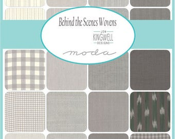 "Moda Behind the Scenes Wovens Layer Cake 10"" Precut Fabric Quilting Cotton Squares Jen Kingwell 18135LC"