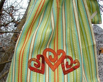 Southwest Valentines Kitchen Towel | Southwestern Style Tea Towel | Western Hand Towel | Southwestern Dish Towel | Heart Hearts Home Decor