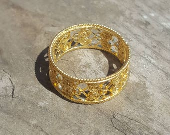 Gold plated Filigree Fascione Ring