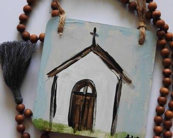 Gratitude Chapel - wood sign painting