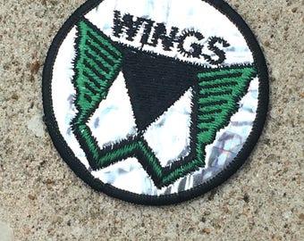 Vintage Souvenir Patch Badge Applique Classic Rock Paul McCartney WINGS  Linda McCartney