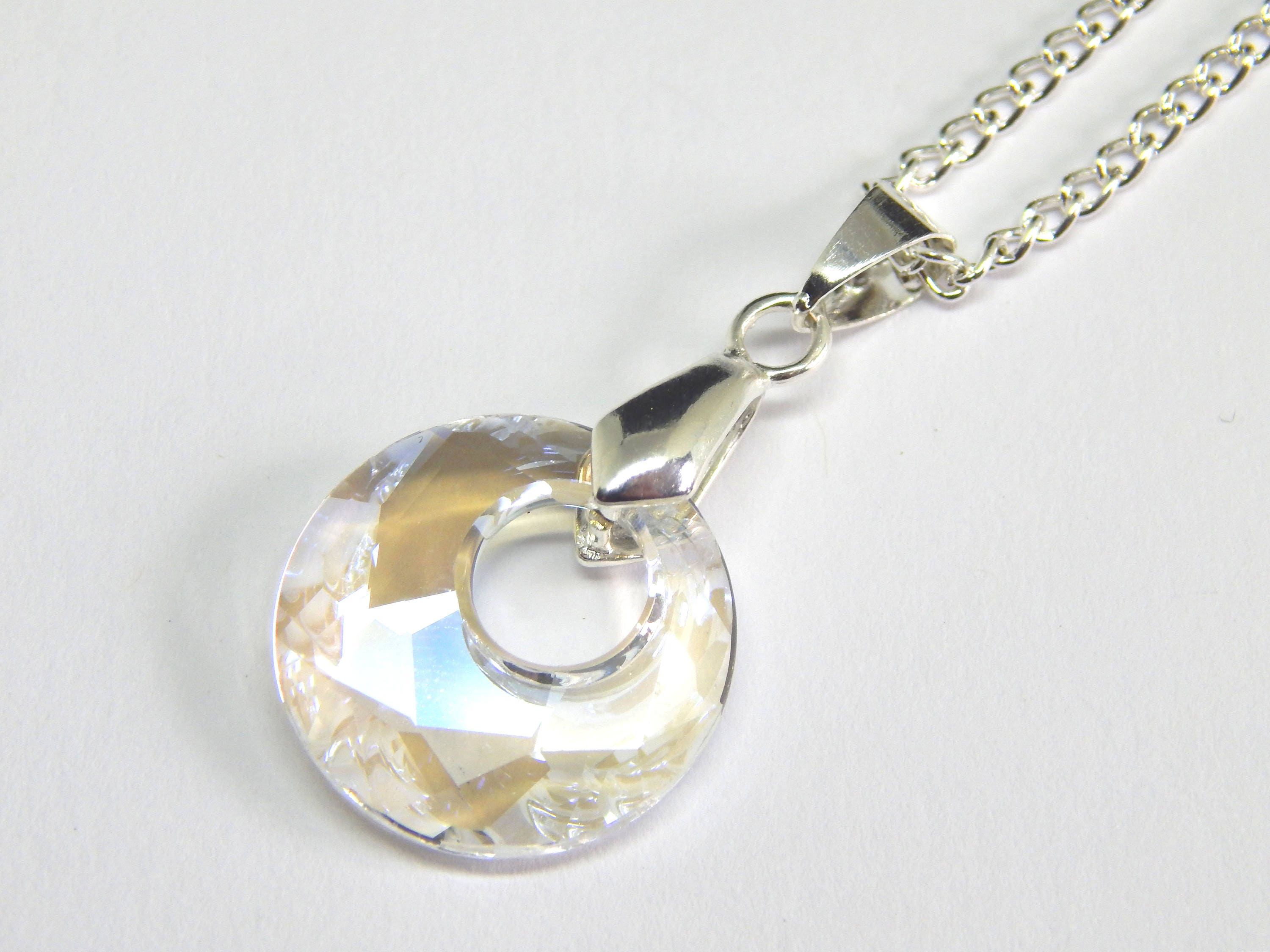 BP. Set of 3 Crystal Disc Necklace For Sale.