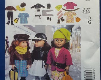 McCall's Crafts M6804 sewing pattern, 18 inch doll clothes