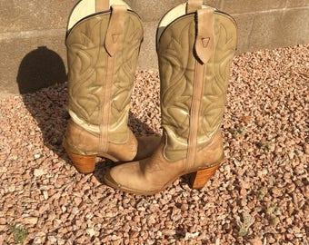 Vintage Capezio Western Cowboy Boots Brass Tip SZ 7