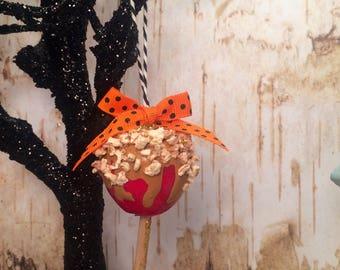 Caramel apple ornament halloween decor halloween ornament party decor carnival theme fall decor