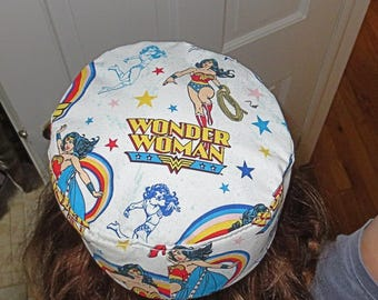 Wonder Woman Bucharian kippah superhero yarmulke Bukkarian super woman yamaka great gift for all Wonder woman fans of all ages