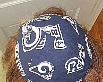NFL Los Angeles Rams kippah or yarmulke California football team yamaka Rams kippah professional football great gift < 20 dollars