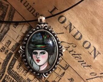 Portrait of London - art necklace