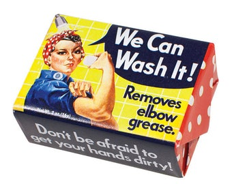 Rosie the Riveter We Can Wash It Soap  Bar