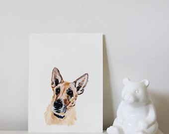 Custom Pet Portrait, Dog Portait, Custom Pet Painting, Minimalistic Pet Portrait, Dog Art, Animal Art, Custom Dog Portrait, Commission Art