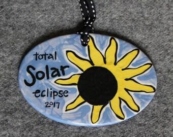 Total Solar Eclipse ornament, 2017 Solar Eclipse ornament, Eclipse jewelry, Great American Solar Eclipse, Christmas Ornament, Sun and Moon