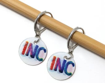 INCREASE, Removable Stitchmarkers for Knitters or Crocheters