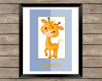 Giraffe Wall Print, Children's Wall Decor, a fun additional to any child's room