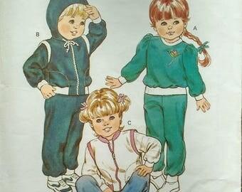 Kwik Sew Toddlers Jogging Suit Pattern 1357